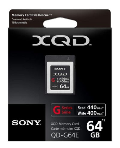 0090280108 - SONY XQD G MEMORY CARD 2933X 440 MB/S 64GB
