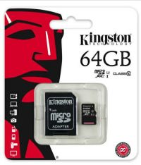 0091180013 - KINGSTON MICRO + adatt SDCS2/64 GB cl10  100/10  UHSI