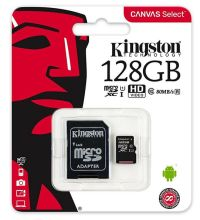 0091180015 - KINGSTON MICRO + adatt SDCS2/128 GB cl10  100/10  UHSI