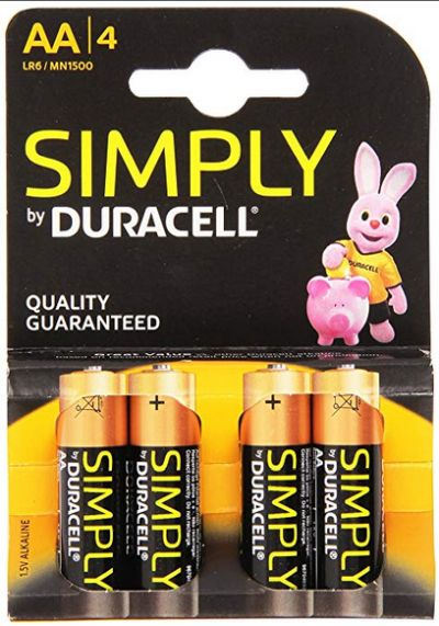 0380150003 - DURACELL MN 1500 SIMPLY AA X4