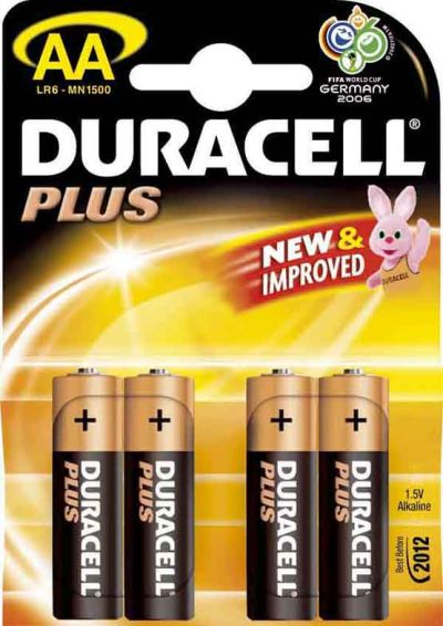 0380151055 - DURACELL MN 1500 PLUS AA X4