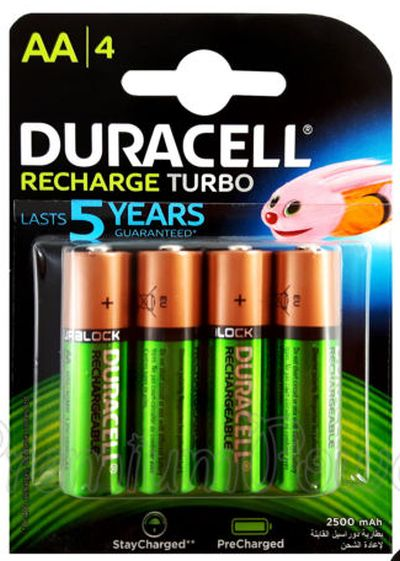 0380152657 - DURACELL Precharged MN 1500 AA HR6 2500 mAh X4
